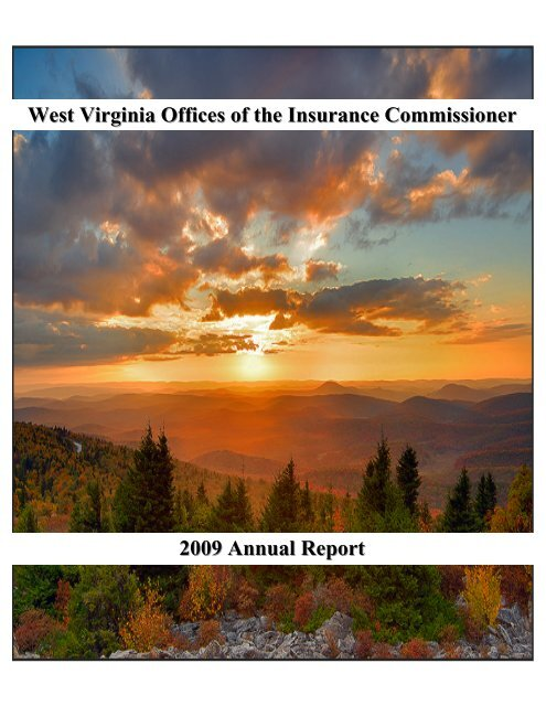 West Virginia Offices Of The Insurance Commissioner 2009 Annual