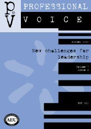 Download this issue of PV online here - Australian Education Union ...