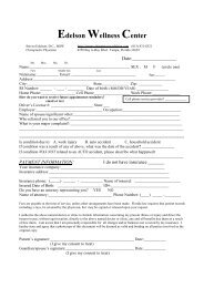 NEW PATIENT HISTORY FORM (part 1 of 2 - Chiropractor, Tampa