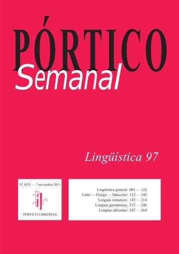 Lingüística 97 - Pórtico librerías