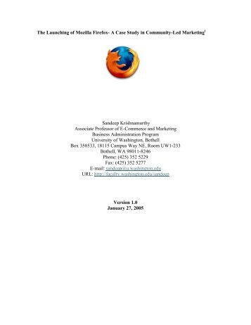 The Launching of Mozilla Firefox - IFIP Working Group 2.13