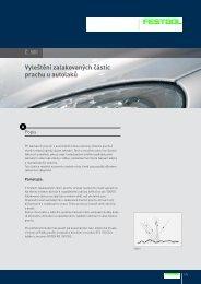Vyleštění zalakovaných částic prachu u autolaků - PK Festool