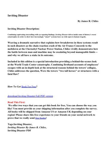No bs time management for entrepreneurs pdf ebooks free inviting disaster pdf ebooks free download fandeluxe Image collections