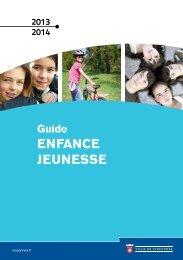 Guide Enfance - Jeunesse 2013/2014 - Ville de Vincennes