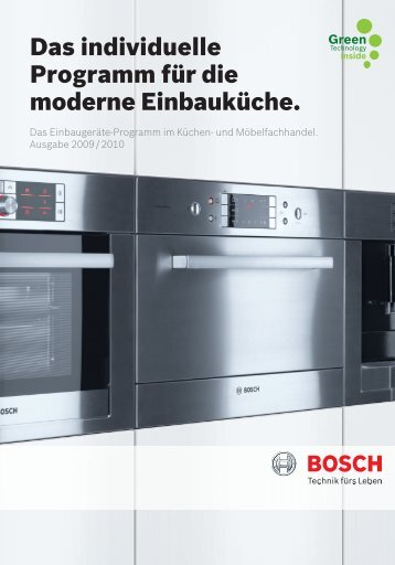 Das individuelle Programm für die moderne ... - Bosch-home.com
