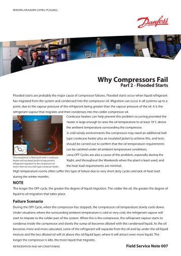 Why Compressors Fail Why Compressors Fail - Danfoss