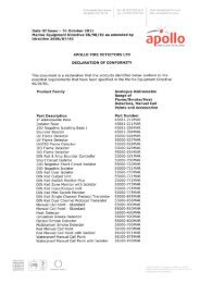 Marine Equipment Directive 96/98/Ec as amended by - Apollo Fire ...