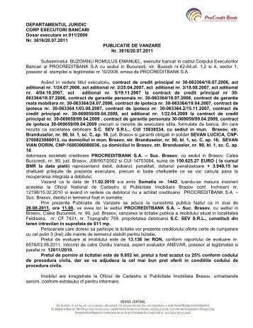 DEPARTAMENTUL JURIDIC - ProCredit Bank