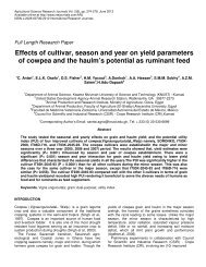 Effects of cultivar, season and year on yield parameters of cowpea ...