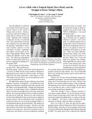 A Love Affair with a Tropical Island: Dave Hardy and the ... - ckstarr.net