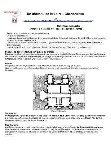Architecture royale - un château de la Loire : Chenonceau
