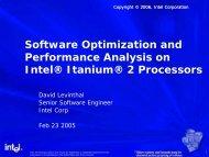 Intel® Itanium® 2 Processor