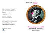 «Katzenmusik, Hundemusik!» - Junges Schauspielhaus Zürich