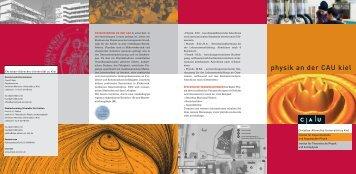 Info-Flyer - Christian-Albrechts-Universität zu Kiel