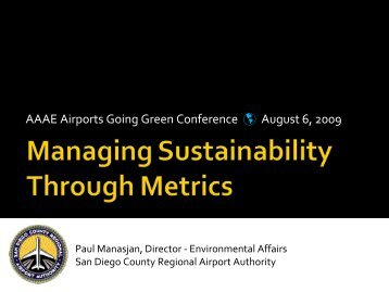 Paul Manasjan, San Diego International Airport - Airports Going Green