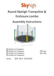 Round Skyhigh Trampoline & Enclosure combo Assembly Instructions