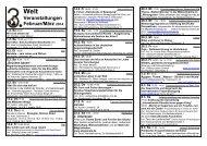 Aktueller Kalender - Dritte Welt Forum in Hannover
