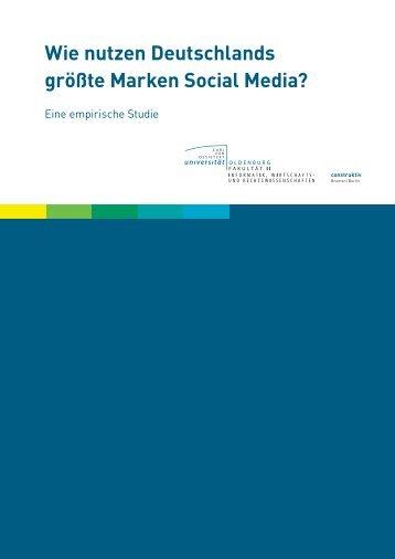 Wie nutzen Deutschlands größte Marken Social ... - construktiv GmbH