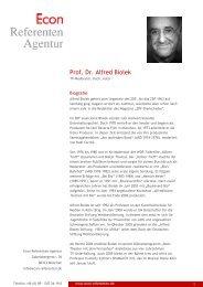 Prof. Dr. Alfred Biolek - Econ Referenten-Agentur