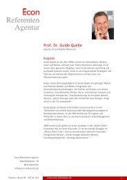 Prof. Dr. Guido Quelle - Econ Referenten-Agentur
