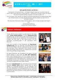 Newsletter 3 - für 4 Quartal - Große Hilfe für kleine Helden