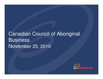 Equity Offer - Canadian Council for Aboriginal Business