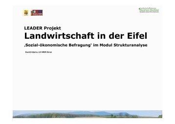 Leader-Projekt: Landwirtschaft in der Eifel