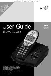 BT Diverse 5250 User Guide.pdf 1636KB 02 Mar 2013 - Telephone ...