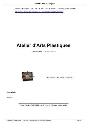 Atelier d'Arts Plastiques - Collège CAMILLE CLAUDEL - Académie ...