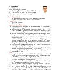 Dr. Parveen Kumar Principal Scientist (Agronomy ... - CSSRI Karnal