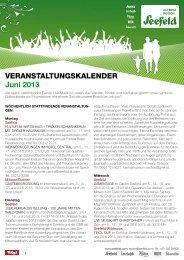 Veranstaltungskalender Juni 2013 - Olympiaregion Seefeld