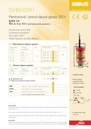 Membránové / pístové tlakové spínaãe 250 V ! - BIBUS