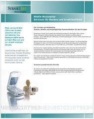 Mobile Messaging- Services für Banken und Kreditinstitute
