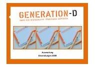 Auswertung Einsendungen 2009 - Generation-D