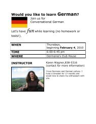 Would you like to learn German?