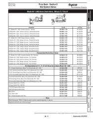 Price Book - Section 8 Wet System Valves - Tyco Fire Products