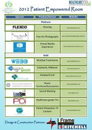 See a List of all Sponsors - Institute for Patient-Centered Design