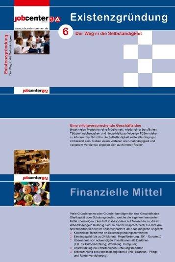 Der Weg in die Selbständigkeit - Jobcenter Bremen