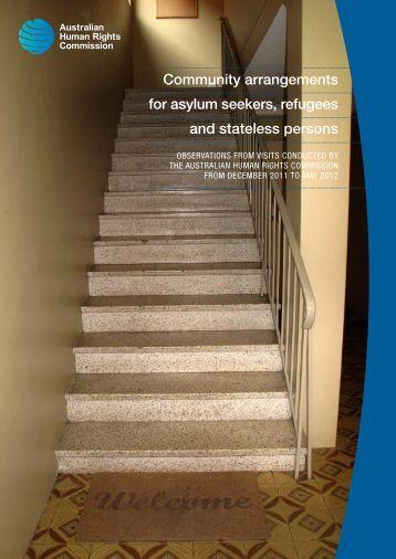 Community arrangements for asylum seekers, refugees - Australian ...