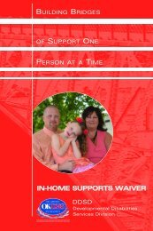 In-Home Supports Waiver - Oklahoma Department of Human Services