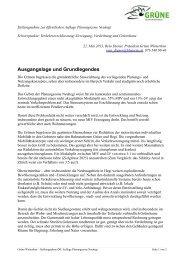 Ausgangslage und Grundlegendes - Grüne Winterthur
