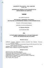 Le peuplement amerindien de la Guyane française: Apport des ...
