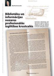 Bibliotēku un informācijas nozares profesionālās ... - Academia