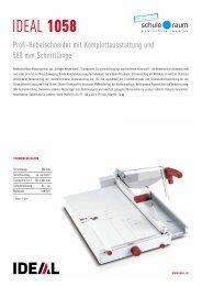 Produktedokumentation als PDF - AG für Schule & Raum