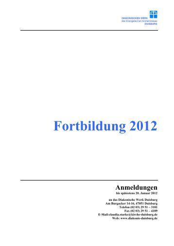 Fortbildung 2012 - Evangelischer Kirchenkreis Duisburg
