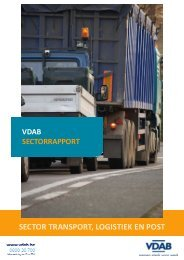 SECTOR TRANSPORT, LOGISTIEK EN POST - VDAB