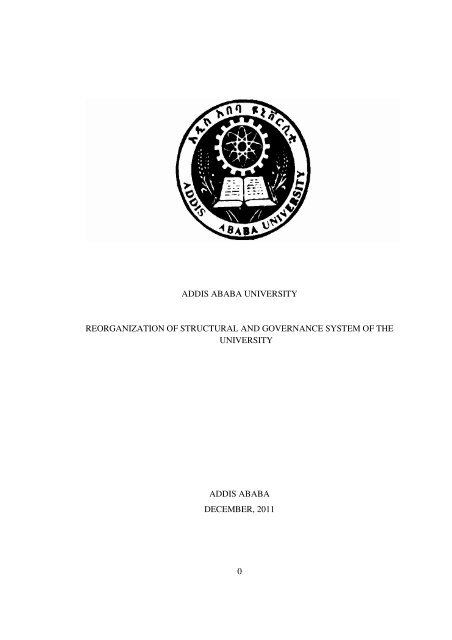 AAU Structure Draft Document - Addis Ababa University