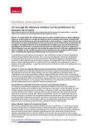 Mutation des professions au sein du système de la santé publique