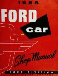 DEMO - 1956 Ford Car Shop Manual - ForelPublishing.com