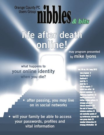 May 2012 - Life After Death Online - lcace